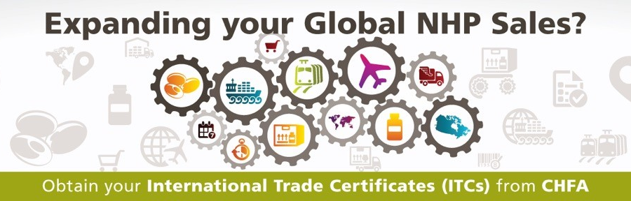 Expanding your Global NHP sales? Obtain your International Trade Certificates from CHFA